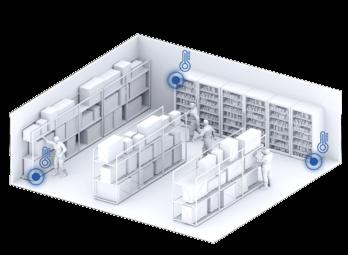 Netino PHARM – Mapowanie temperatury i wilgotności pomieszczeń i urządzeń